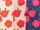 京都カナリヤ手芸店で買える「AP91702-1 パールドビー織生地 布 和柄 花柄 ツバキ AP91702-1 商用利用可能」の画像です。価格は108円になります。