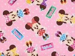 【エントリーでポイント10倍】GR1071-1Aキャラクター生地布ディズニーミニーマウス2019年入園入学レッスンバッグ体操着入れ巾着袋に商用利用不可