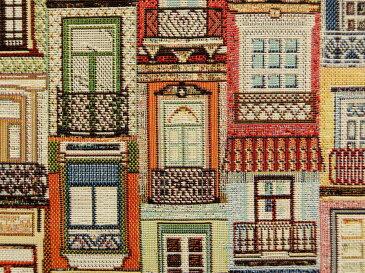 ゴブラン生地 布 アパートメント 窓 87427−01 海外 町並み 街並み B&Bファブリックス 商用利用可能