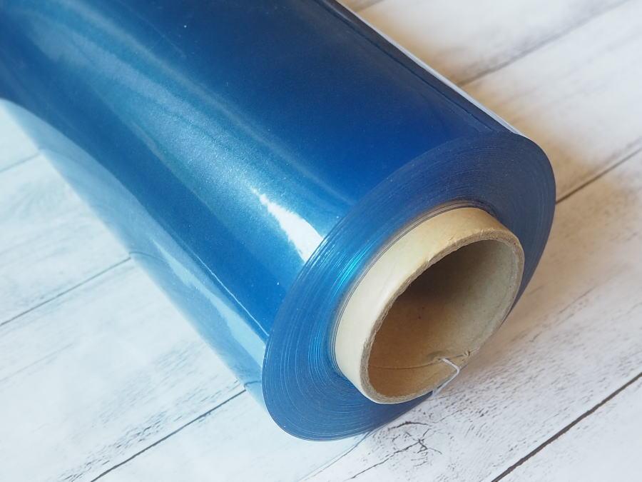 透明 ビニール 生地 厚さ0.3mm 生地巾約107cm 塩化ビニール フィルム スケルトン クリア 商用利用可能