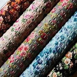 YUWA有輪商店ローンリップル生地布グロッシーフラワーGlossyFlower416206花柄商用利用可能