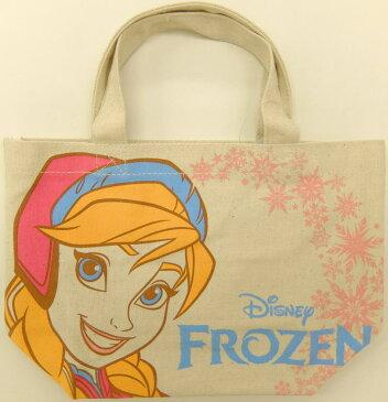 在庫処分 入園入学 キャラクターグッズ ディズニー アナと雪の女王 マチ付コットンバッグ アナアップ APDS1609サブバッグ、ランチバッグ