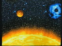 パネル柄生地 布 輸入 USAコットン プラネッツ オブ ザ サン 3382-99 アイ ウォント マイ スペース 太陽 地球 月 火星 水星 金星 彗星 カンヴァス ベナーテックス 商用利用可能