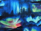 502black 輸入 USAコットン 生地 布 ランドスケープ メドレー 502black エリザベススタジオ Landscape Medley 風景 オーロラ 夜空 星 宇宙 商用利用可能