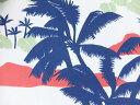 輸入 USAコットン 生地 布 ヴィンテージ風ハワイアン柄 KA-2095 ワイキキ風景柄 カハラ ハワイ 老舗アロハシャツブランド