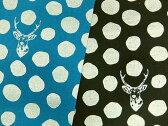綿麻キャンバス生地 布 echino エチノ 古家悦子 sambar サンバー JG96500−501 ラメプリント 水玉 鹿 商用利用不可10P03Dec16