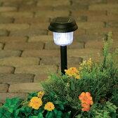 ソーラーライトGSL-P1Wホワイト アイリスオーヤマ ガーデン ガーデンライト イルミネーション ガーデニング 玄関 屋外 庭 防犯 庭園灯 ☆
