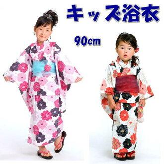 "A child yukata (120cm size) kids magazine ""はっぴー mom"" publication handle [child yukata (child yukata)] of the fancy weaving woman"