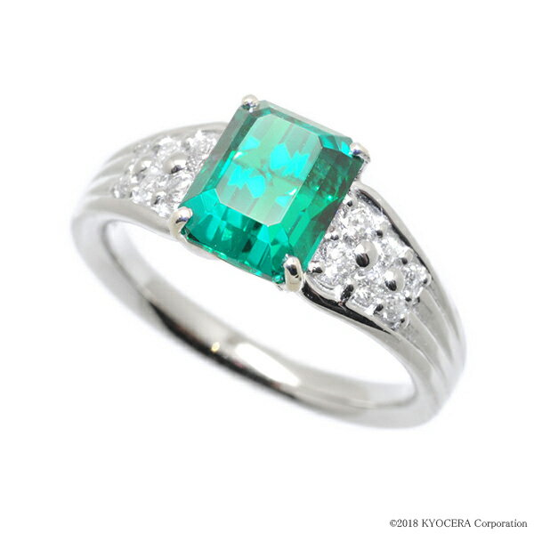 エメラルド リング 指輪 プラチナ 1.18カラット 5月誕生石 プレゼント クレサンベール 京セラ