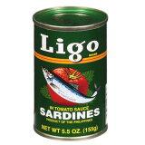 イワシのトマトソース漬け リゴ 155g Ligo Sardines In Tomato Sauce【イワシの缶詰 おすすめ】【缶詰 人気】【オイルサーディン 】【缶詰 セット】【非常食】【保存食】【長期保存】