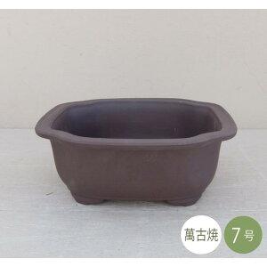 [Vente] Pot japonais Pot à bonsaï [5282] Pot à fleurs Manko ware Poterie de style japonais Fabriqué au Japon n ° 7 mokko profond (taille 22,0 × profondeur 19,0 × hauteur 9,0 cm)