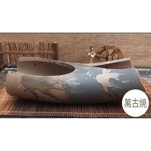 [Verkauf] Japanischer Topf Bonsai-Topf Wilder Gras-Topf [980-0557] Blumentopf Manko-Ware Keramik nach japanischer Art Hergestellt in Japan (Größe 30,0 × Tiefe 13,0 × Höhe 8,5 cm)