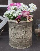 植木鉢プランターファイバーストーン[194-921S]おしゃれ可愛い丸型アンティーク風ガーデニング
