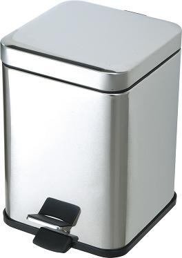 [汚物入れ・トイレ用ゴミ箱]サニタリーボックス ST-K6(容量約6L)(山崎産業)[DP-23L-SB]ペダル式 だから衛生的/女性トイレ用ごみ箱 ステンレス製でシンプル/内容器付で掃除も簡単!商業施設やオフィス向けの業務用/ダストボックス トイレポット トイレペール 蓋付 四角形 角型