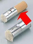鉄板焼・お好み焼き用品 文化 プラスチック柄 油引 小(φ30×H90) (6-0888-3002)