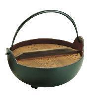 いろり鍋16cm 季節鍋・よせ鍋 トキワ やまが鍋 (鉄製 内面茶ホーロー仕上) 16cm (8-2065-0801)