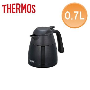 THERMOS/サーモス ステンレス卓上ポット 0.7L THX-700K(黒)卓上用真空断熱ステンレスポット 人気のTGSシリーズ後継品!抜群の保温力。片手でラクラク注げる! 広口7cm。焼酎のお湯割り・コーヒー、お店などで業務用としても (6-0790-0801)