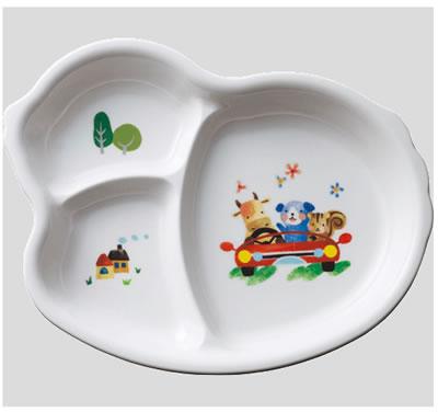 ※10個セット※メラミン子供用食器 フェアリーランド ひよこプレート (222×176×28mm) Daiwa(台和...