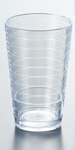 ポリカーボネート製 14オンスループタンブラー (ホワイト) スリーライン[TCL-14W] 透明食器 コップ ガラス調 グラス PC製 プラスチック製 業務用