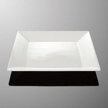 メラミン 25cm 角平皿 253X253mm H27mm アイボリーホワイト・C クリスタ[E109IWC] マルケイ 業務用 食洗機対応 割れにくい 丈夫 業務用 プラスチック 樹脂 食器 皿 D8