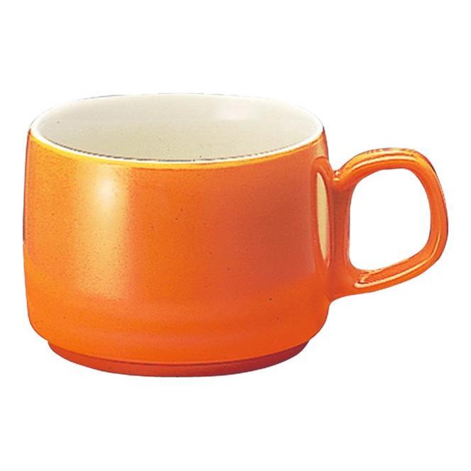 メラミン コーヒーマグ 75X107mm H54mm 145cc イエローオレンジ コーヒーカップ[C7YO] マルケイ 業務用 食洗機対応 割れにくい 丈夫 業務用 プラスチック 樹脂 食器 皿 D8画像