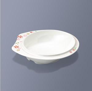 【メラミン製 介護 自助食器】美華 中皿 三信化工[UMS-45R MIKA]【食器 介護用 …