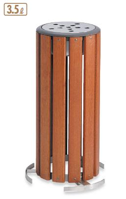 【施設用品・屋外用灰皿】【スモーキングスタンド・吸殻入れ】【天然木製】グランドコーナー 木調灰皿M-126 3.5L (テラモト)[SS-273-126-0]:業務用メラミン食器の通販KYOEI