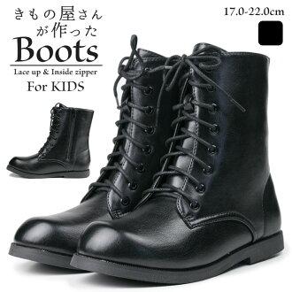 """""""孩子靴子黑色» 畢業畢業典禮入口儀式歌舞伎町演示文稿的系帶的靴子黑色靴子黑色皮革褲子靴子短靴子黑色花邊孩子女孩靴子孩子男孩靴子女靴為孩子兒童"""