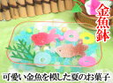 金魚鉢の中で涼しげに泳ぐ金魚の様子をあらわした夏の和菓子(半生菓子)です。「金魚鉢」開店...