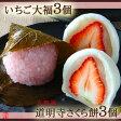 いちご大福3個・さくら餅3個セット【桜餅】【京都の和菓子・お取り寄せ】【消費期限は発送日含め2日間※到着日当日まで】