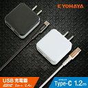 充電器 Type-C USB2ポート 2台同時急速充電器 2