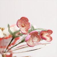 装いに清楚さを添える可憐な草花の髪飾り大・小2個セット/華やか/かわいい/ガーリー