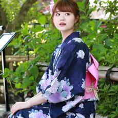 変わり織り浴衣3点セット『紫地に紫陽花』浴衣レトロモダン