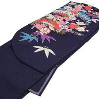 袴レンタル卒業式袴セット卒業式袴セット2尺袖着物&袴フルセットレンタル安い紫パープルハカマはかまrental