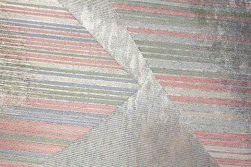 京都 西陣織老舗 「しらえ織物」謹製 祥鳳切取文 引箔 正絹 袋帯