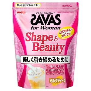 ザバス for Woman シェイプ&ビューティ ソイプロテイン ミルクティー風味 大豆 45食分 945g