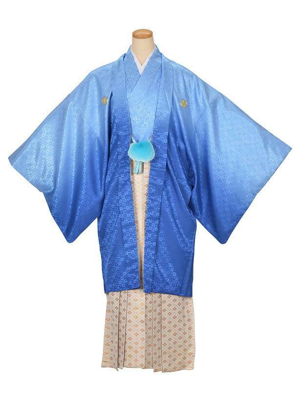 【レンタル】青グラデーション紋付
