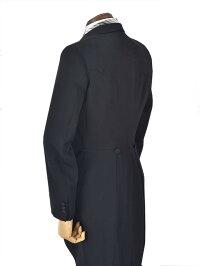 【レンタル】モーニングブラックベスト10点セット正装結婚式卒業式花嫁父花婿父バージンロード貸衣装モーニングコートY体からE体往復送料無料