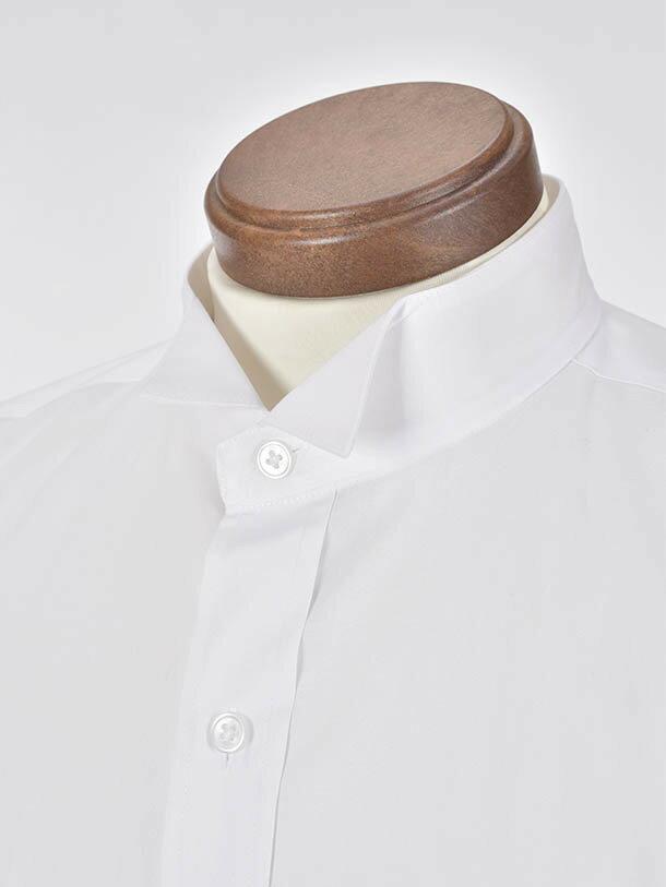 【レンタル】モーニング モーニングYシャツ 立ち襟 ウイングカラー カフス 結婚式 お父様 タキシードYシャツ