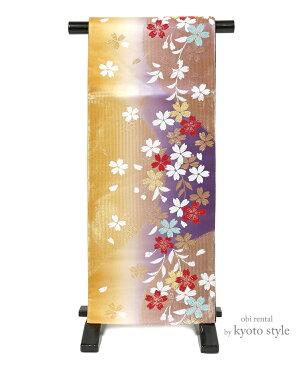 【袋帯 レンタル】 帯 成人式 結婚式 振袖 訪問着 日本製 六通 往復送料無料 73100