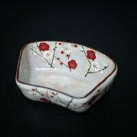 京焼・清水焼スープカップ陶器絵柄紅白梅高さ7センチ口径11センチ
