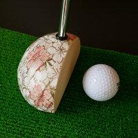 京焼パター陶磁器絵柄桜ゴルフパター