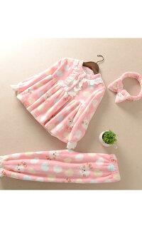 子供パジャマ女の子セットアップ上下セットキッズジプアップもこもこつなぎパジャマ超かわいい暖かいふわもこルームウェアハロウィーンコスプレ