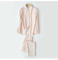 パジャマレディース長袖パジャマ前開き綿ガーゼパジャマロングパンツシャツパジャマ可愛いルームウエア部屋着寝巻き冷房対応