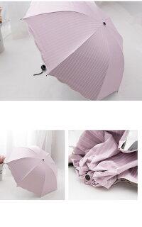 日傘晴雨兼用軽量UVカット折りたたみ傘100%遮光遮熱完全遮光折り畳み傘レディースボーダー柄日傘遮熱効果UVカット紫外線対策
