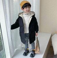 子供服女の子子供コート冬服中綿コートジャケットキッズコート防寒コートダウンコート風チェイクダウンにピッタリこども服韓国子供服シンプル