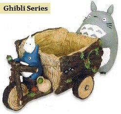 【生活雑貨】 ジブリプランターとなりのトトロ トトロと森の三輪車