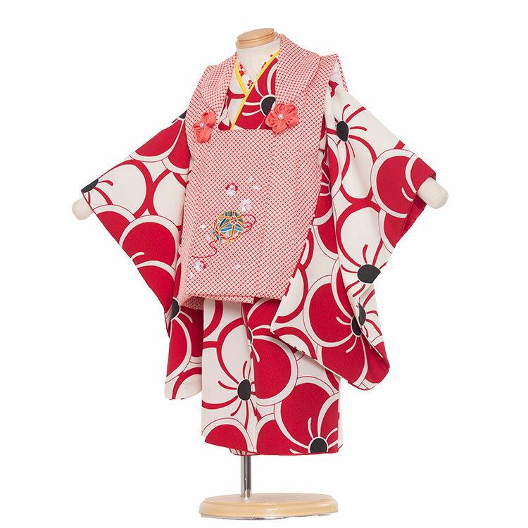 【レンタル】七五三 着物 2歳 女の子 レンタル フルセット 七五三レンタル 2歳女の子 二歳 女児 被布セットレンタル七五三 753 被布 小柄な3歳 2歳着物 着物レンタル セットひな祭り京都 送料無料/2093 白地/梅