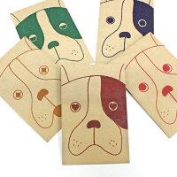 クラフト犬/ポチ袋(小)5種類セット【クラフト紙製】お年玉袋・ぽち袋・おしゃれでかわいい多目的祝儀袋