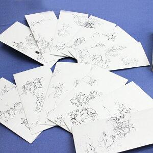 【鳥獣戯画】ポチ袋(大)和紙製正方形12枚セット桐箱入り『おしゃれでかわいいお年玉袋』お祝い多目的